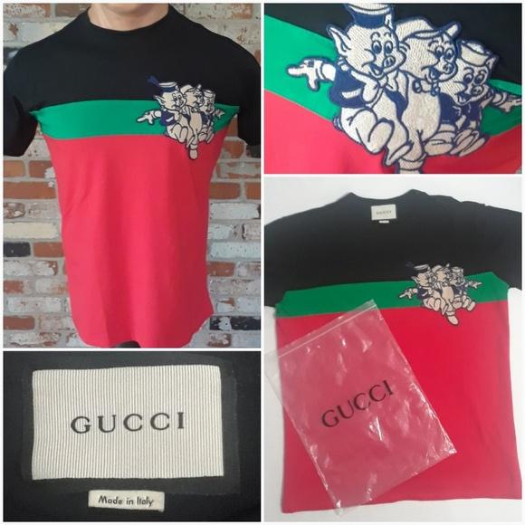 74d3d0016 Gucci Shirts | X Three Little Pigs 2019 Mens Tshirt | Poshmark